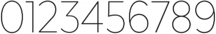 Texta Narrow Thin otf (100) Font OTHER CHARS