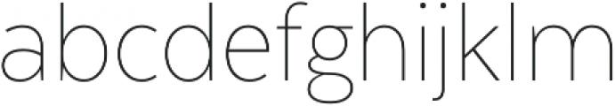Texta Narrow Thin otf (100) Font LOWERCASE