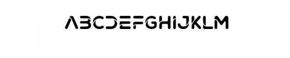 Techno Elegant Font UPPERCASE