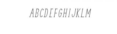 TerryBruce-Italic.otf Font UPPERCASE