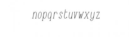 TerryBruce-Italic.otf Font LOWERCASE