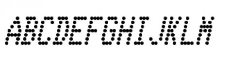 Telidon Condensed Bold Italic Font UPPERCASE