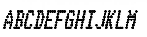 Telidon Condensed Heavy Italic Font UPPERCASE