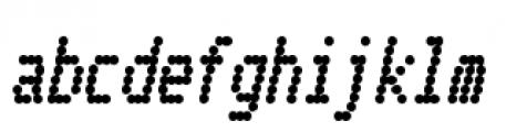 Telidon Condensed Heavy Italic Font LOWERCASE