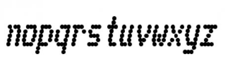 Telidon Heavy Italic Font LOWERCASE