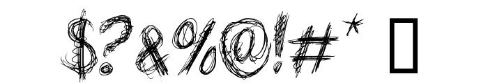 TEN O CLOCK Regular Font OTHER CHARS