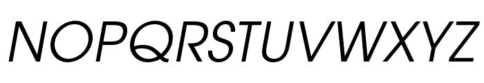 TeXGyreAdventor-Italic Font UPPERCASE