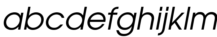 TeXGyreAdventor-Italic Font LOWERCASE