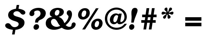 TeXGyreBonum-BoldItalic Font OTHER CHARS