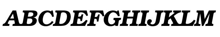TeXGyreBonum-BoldItalic Font UPPERCASE