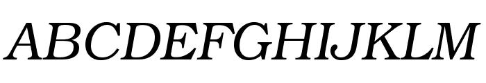 TeXGyreBonum-Italic Font UPPERCASE
