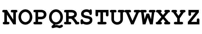 TeXGyreCursor-Bold Font UPPERCASE