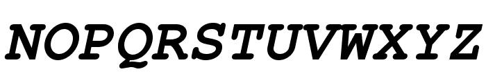 TeXGyreCursor-BoldItalic Font UPPERCASE