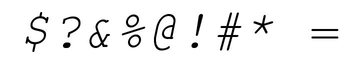 TeXGyreCursor-Italic Font OTHER CHARS