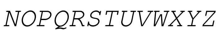 TeXGyreCursor-Italic Font UPPERCASE