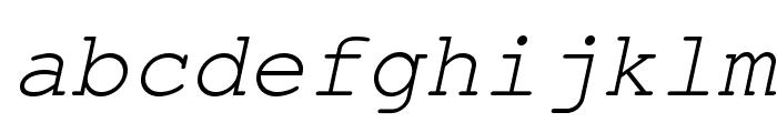 TeXGyreCursor-Italic Font LOWERCASE