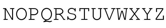 TeXGyreCursor-Regular Font UPPERCASE