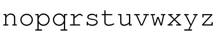 TeXGyreCursor-Regular Font LOWERCASE