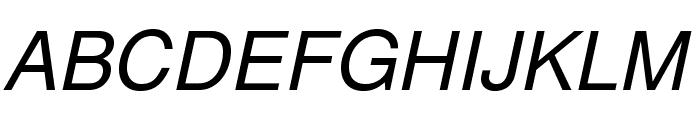 TeXGyreHeros-Italic Font UPPERCASE