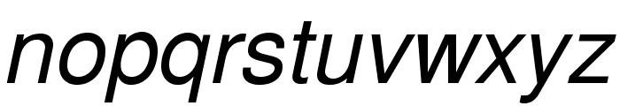 TeXGyreHeros-Italic Font LOWERCASE