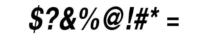 TeXGyreHerosCondensed-BoldItalic Font OTHER CHARS