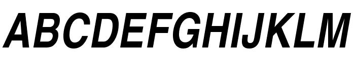 TeXGyreHerosCondensed-BoldItalic Font UPPERCASE