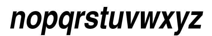 TeXGyreHerosCondensed-BoldItalic Font LOWERCASE