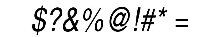TeXGyreHerosCondensed-Italic Font OTHER CHARS