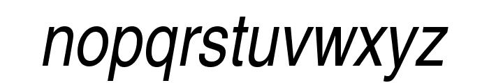 TeXGyreHerosCondensed-Italic Font LOWERCASE