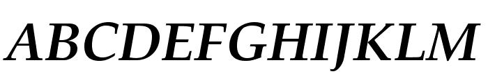 TeXGyrePagella-BoldItalic Font UPPERCASE