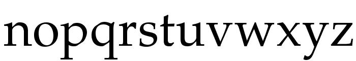 TeXGyrePagella-Regular Font LOWERCASE