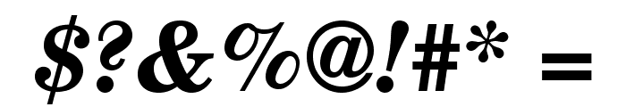 TeXGyreSchola-BoldItalic Font OTHER CHARS