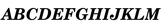 TeXGyreSchola-BoldItalic Font UPPERCASE