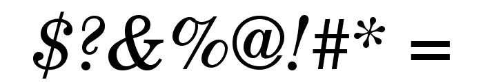 TeXGyreSchola-Italic Font OTHER CHARS