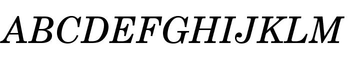 TeXGyreSchola-Italic Font UPPERCASE
