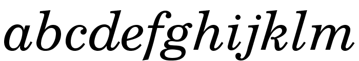 TeXGyreSchola-Italic Font LOWERCASE