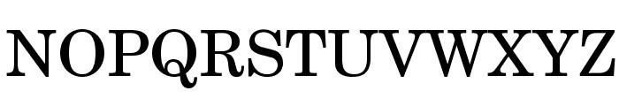 TeXGyreSchola-Regular Font UPPERCASE