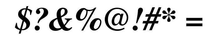 TeXGyreTermes-BoldItalic Font OTHER CHARS