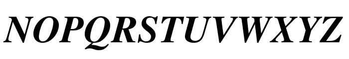 TeXGyreTermes-BoldItalic Font UPPERCASE
