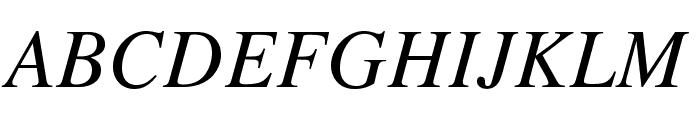 TeXGyreTermes-Italic Font UPPERCASE