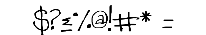 TeacherKim Font OTHER CHARS