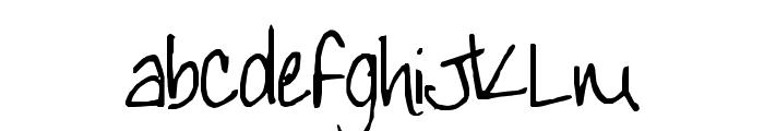 TeacherKim Font LOWERCASE