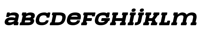 TeamWork-Italic Font LOWERCASE