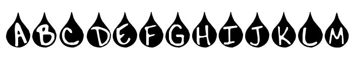 Teardrop Font UPPERCASE