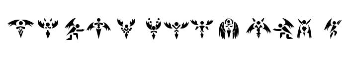 Tech Angels Font LOWERCASE