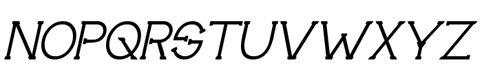 Technically Insane Italic Font UPPERCASE