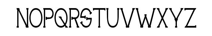 Technically Insane Narrow Font UPPERCASE