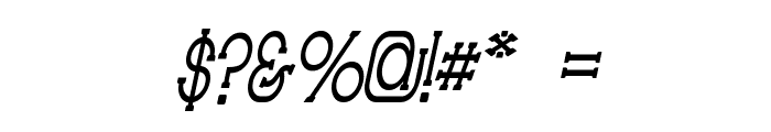 Technically Insane NarrowItalic Font OTHER CHARS