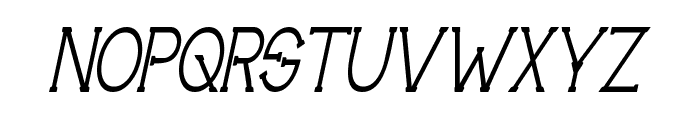 Technically Insane NarrowItalic Font UPPERCASE