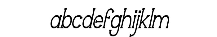 Technically Insane NarrowItalic Font LOWERCASE